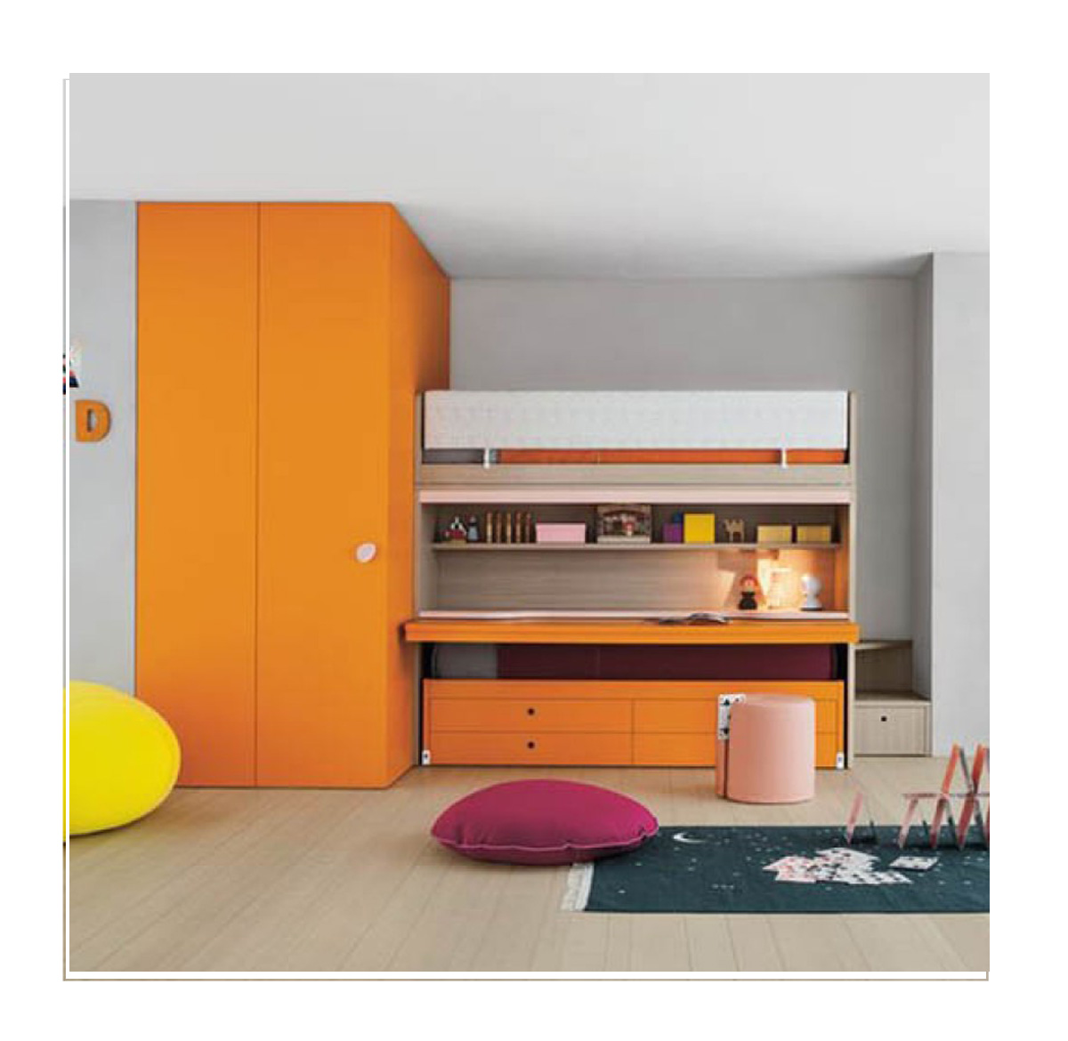 storage solution small bedroom