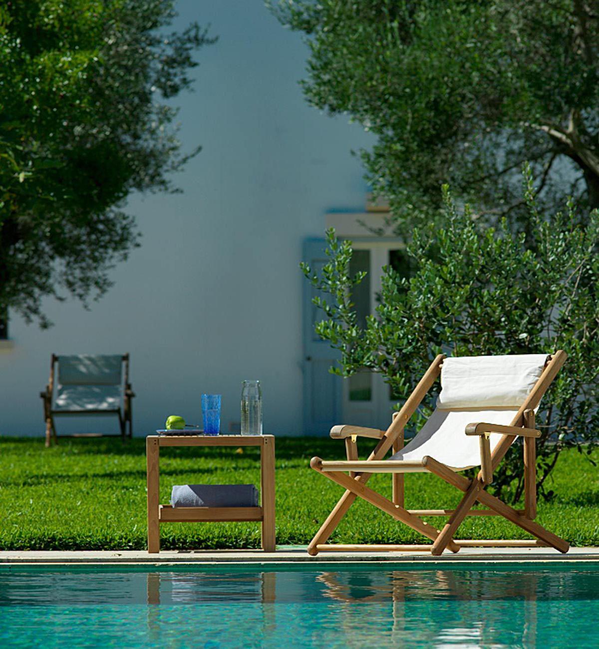 clio folding canvas deck chair by unopiu summer garden furniture