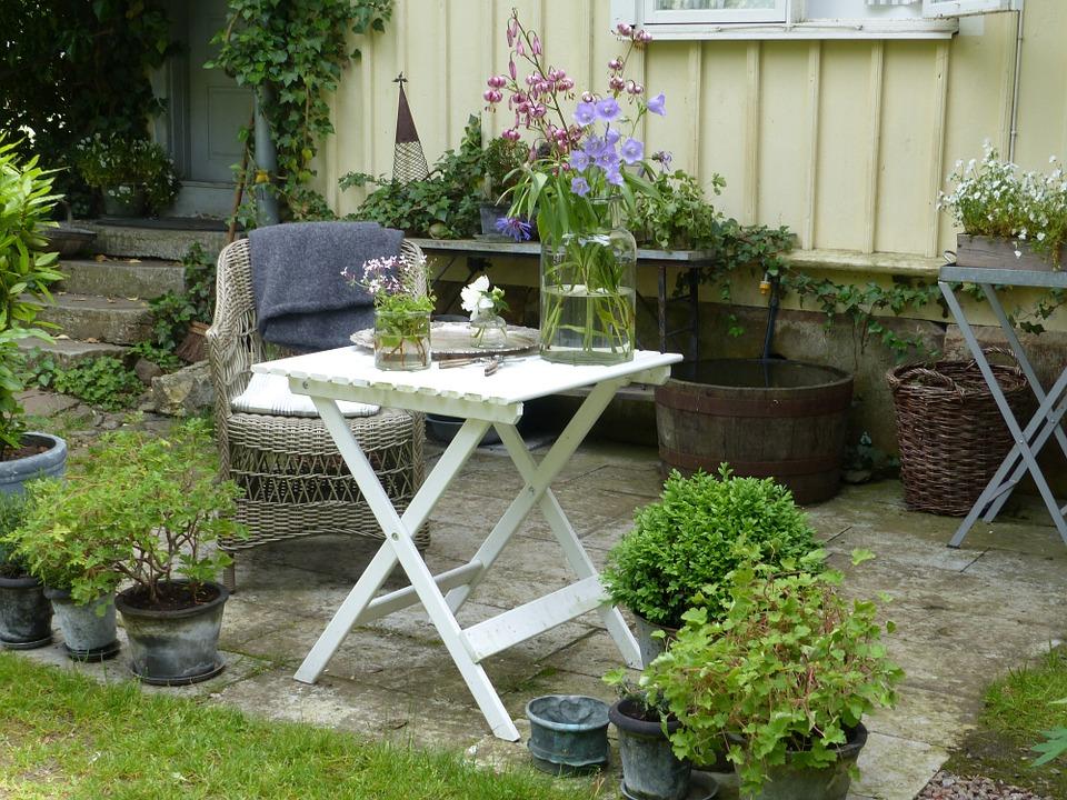 Freshen up garden furniture area