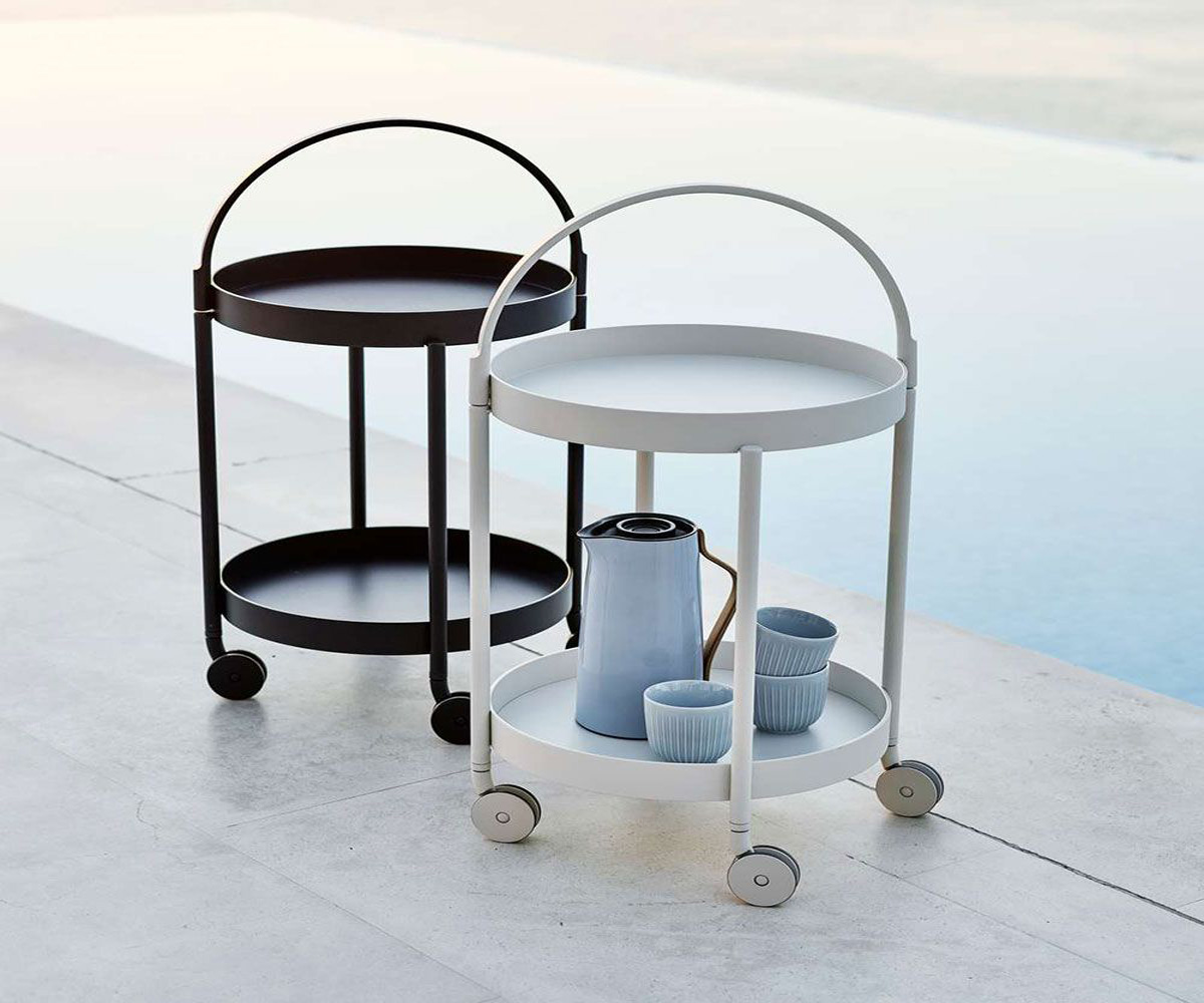 Roll trolley by cane line garden furniture