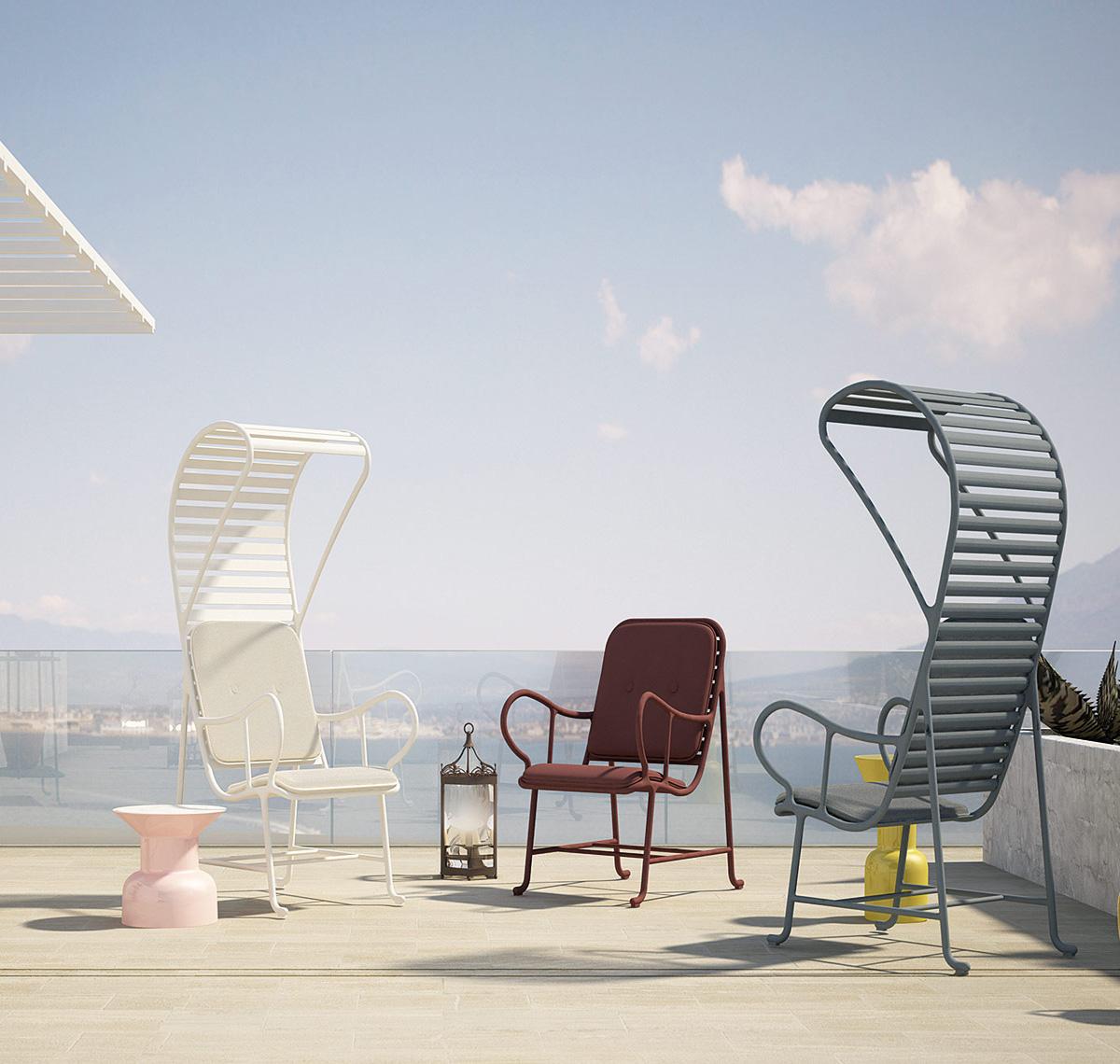 Sleek seating by vondom stylish garden furniture