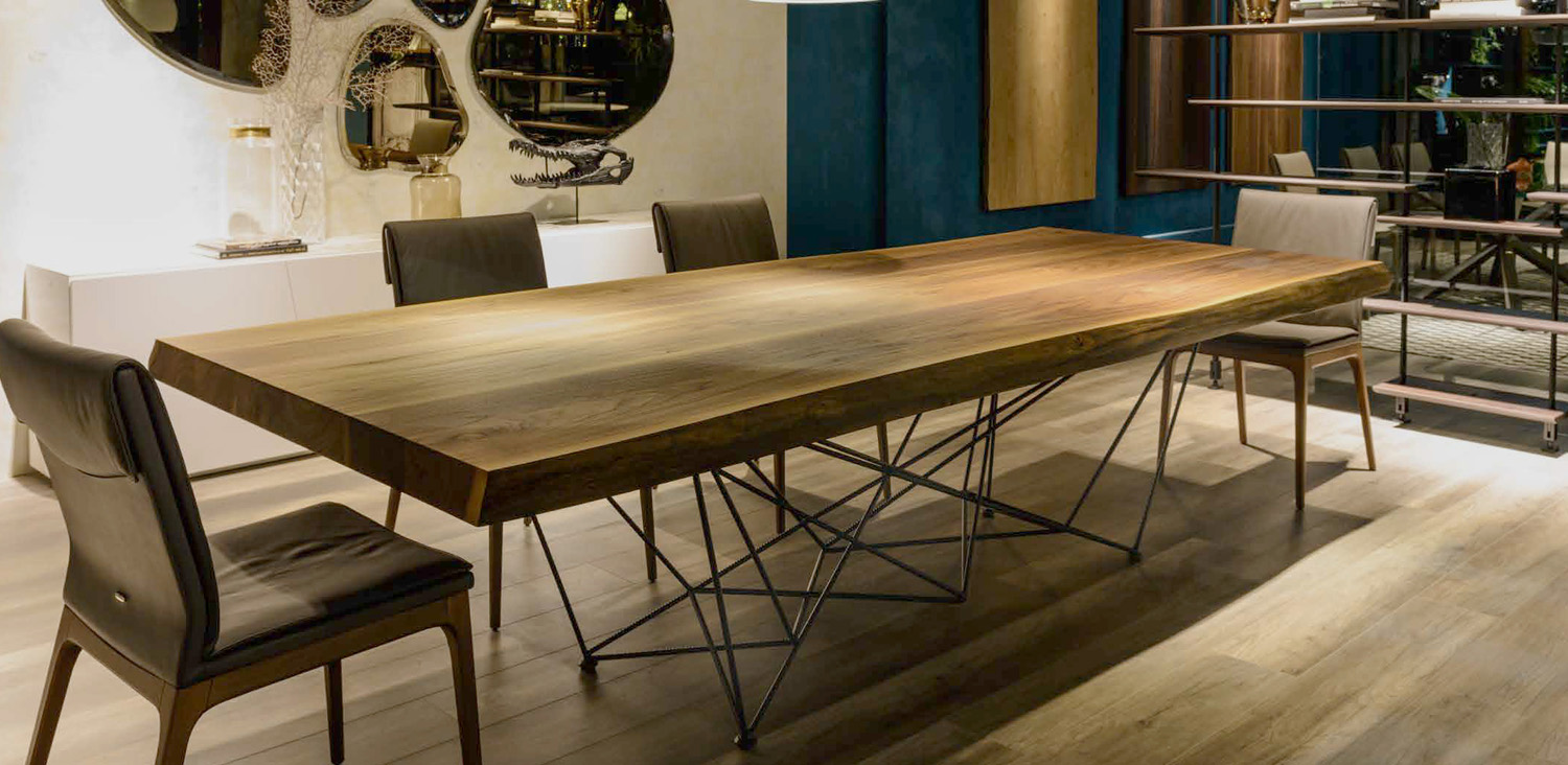 Gordon Deep Wood Fixed Table By Cattelan Italia