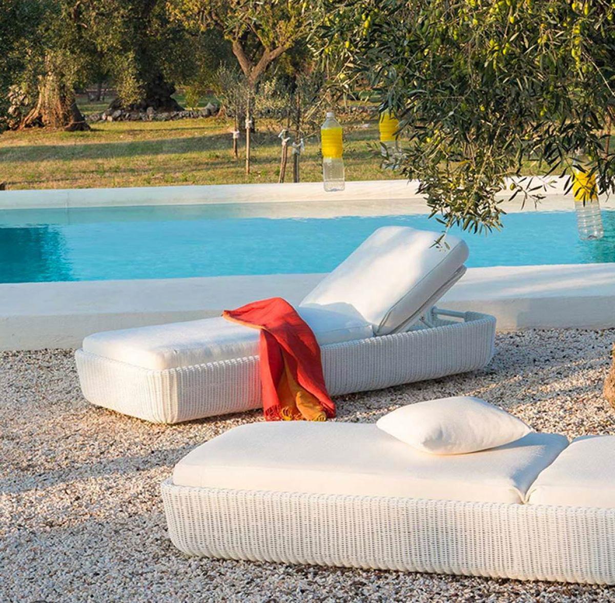 unopiu sunlounger agor waprolace garden furniture