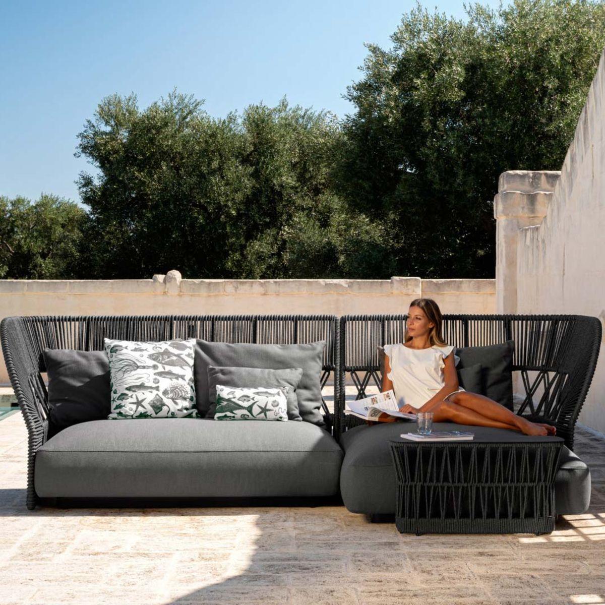 Cliff Deco Braiding Outdoor Sofa by Talenti
