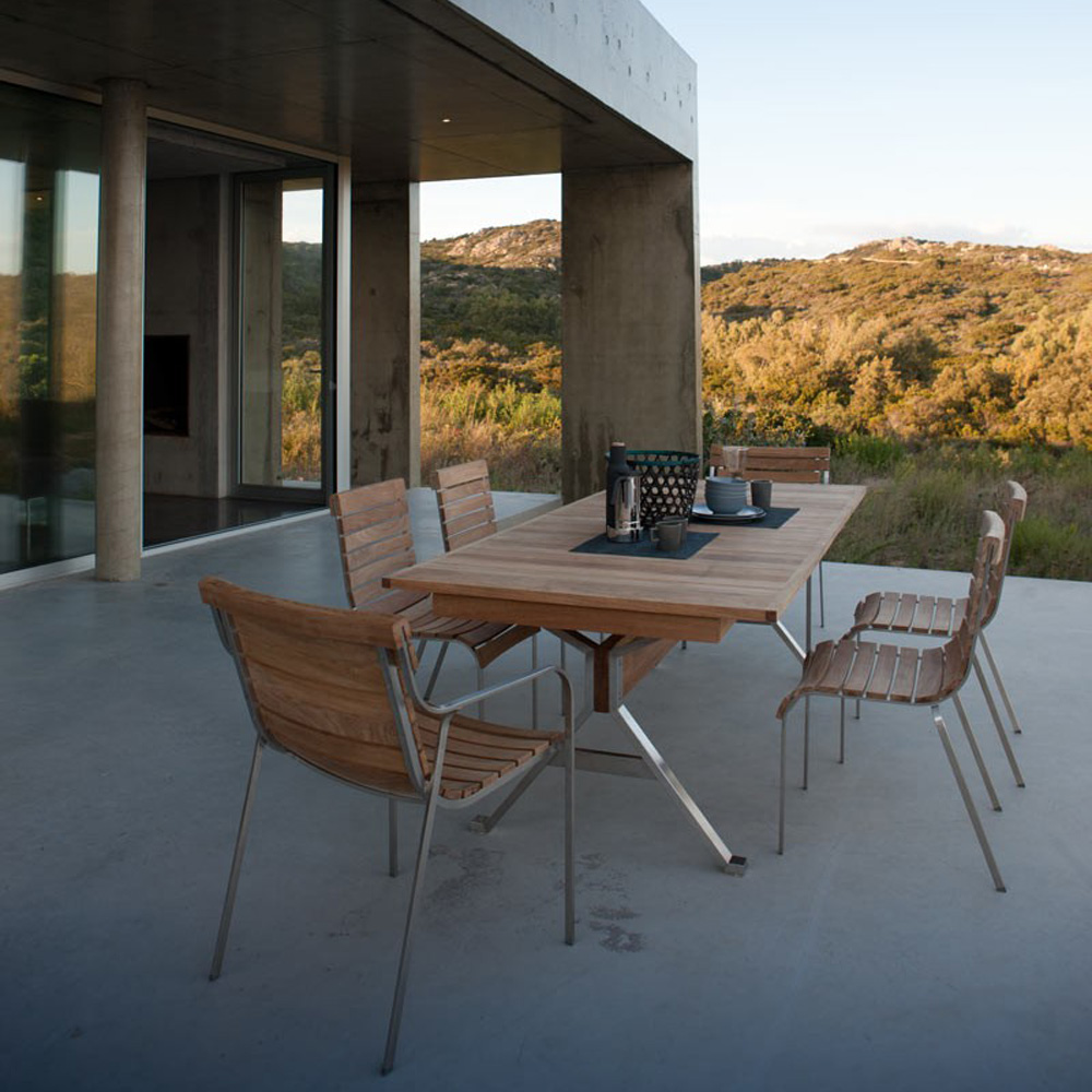 Equinox Rectangular Extendable Dining Table by Unopiu