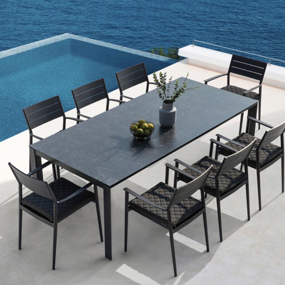 Madison Rectangular 150 X 90Cm Aluminium Ceramic Teak Outdoor Table by Westminster
