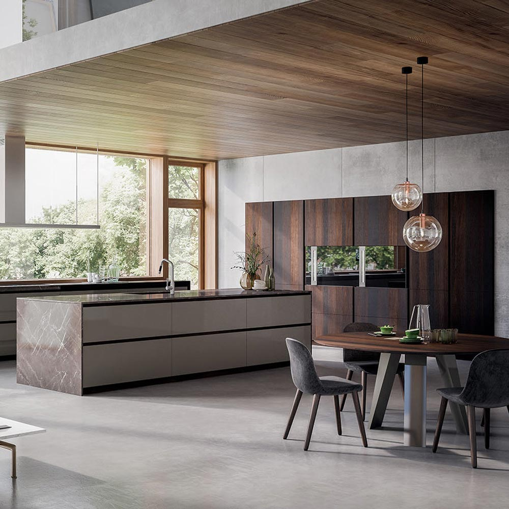 Velvet Elite Heat-Treated Oak And Lacquer Kitchen Furniture