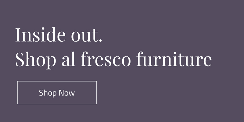 Shop al fresco furniture.