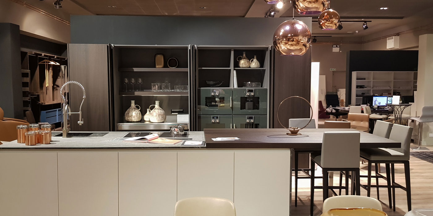 Contemporary Kitchen on Display by FCI London