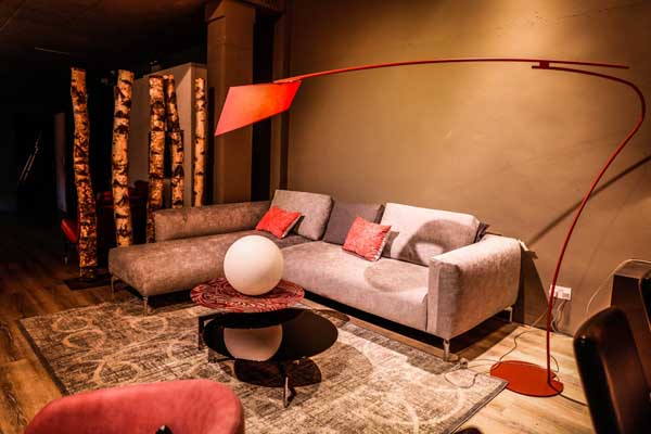 Sofa Floor Lamp Display by FCI London