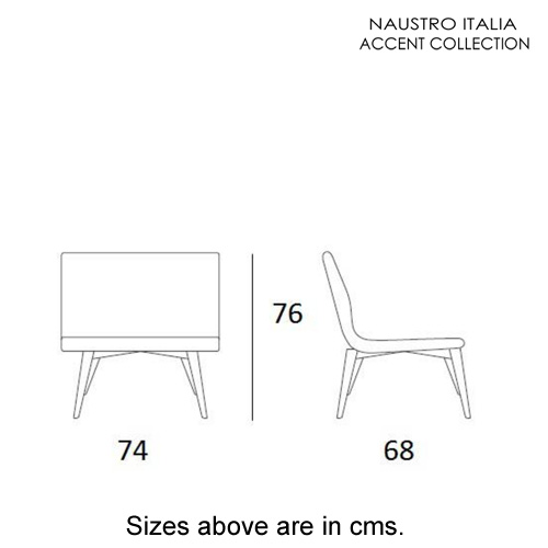 Gio Armchair Accent Collection by Naustro Italia