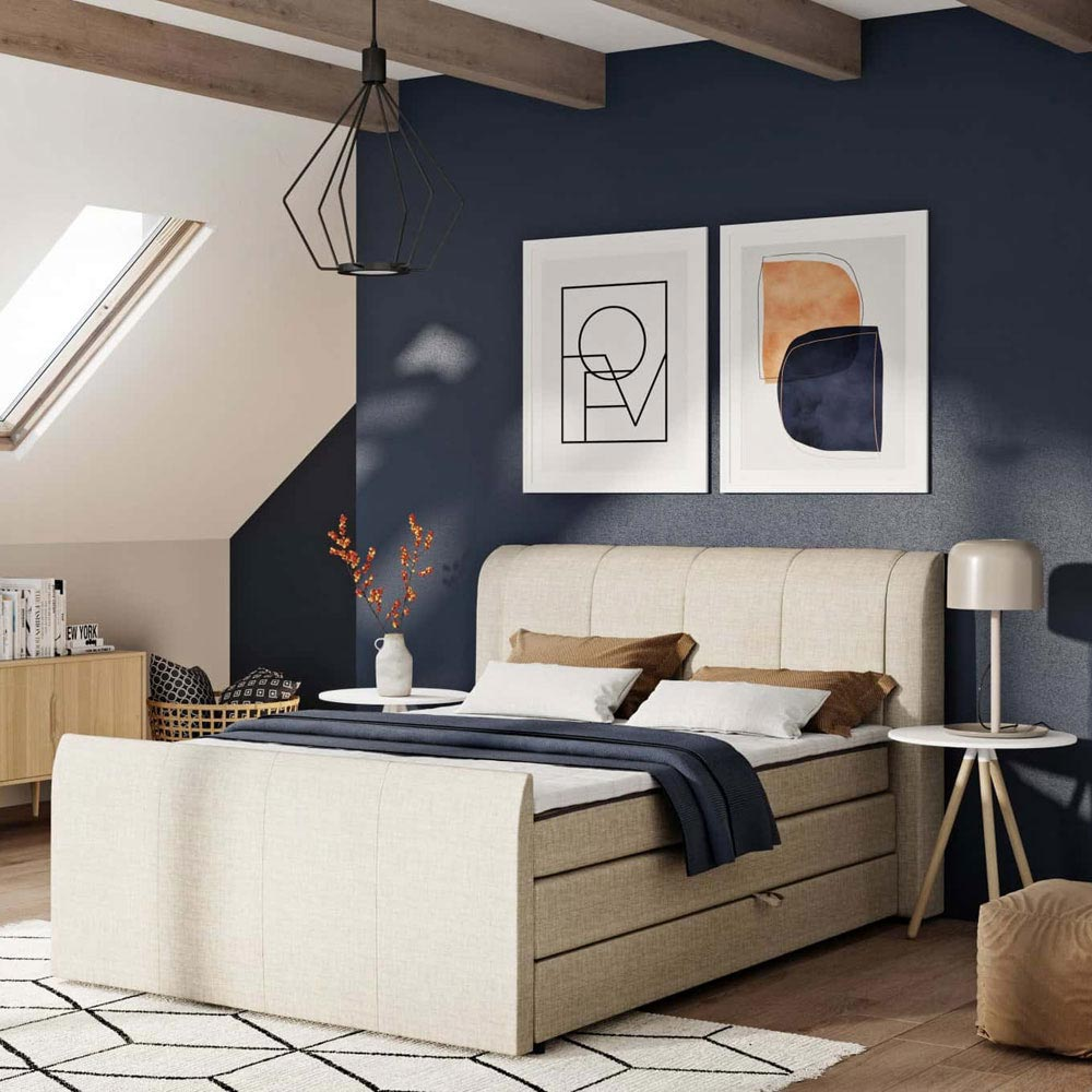 Eveline Double Bed by B and B Letti