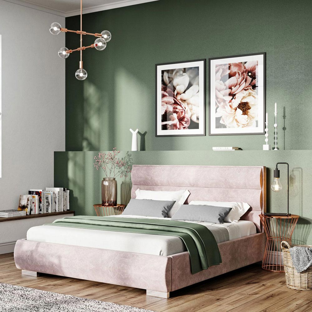 Quaddro Round Double Bed by B and B Letti