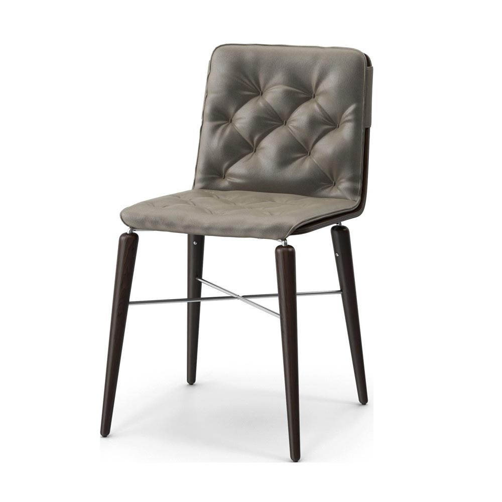 Kate Wooden Frame With Cushion Dining Chair by Bontempi
