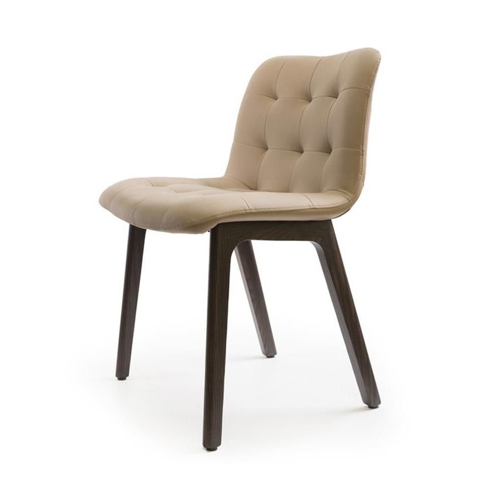Kuga Wooden Frame Dining Chair by Bontempi