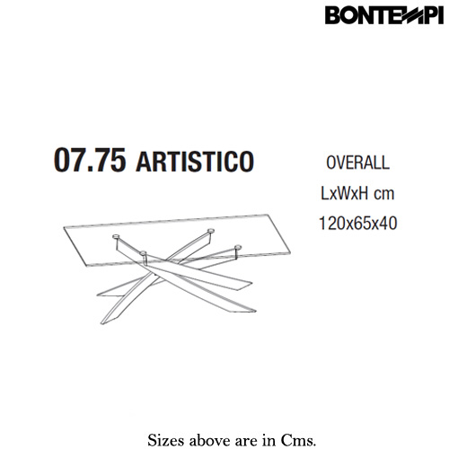 Artistico 07-75 Coffee Table by Bontempi