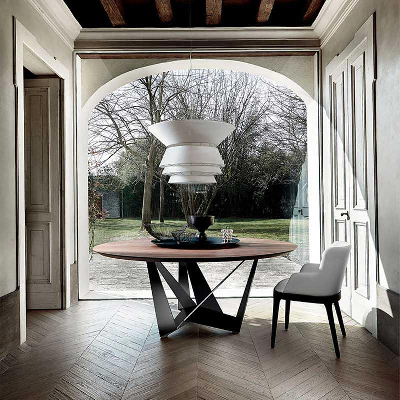 Skorpio Round Fixed Table by Cattelan Italia