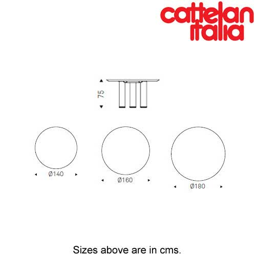 Roll Wood Round Fixed Table by Cattelan Italia by Cattelan Italia