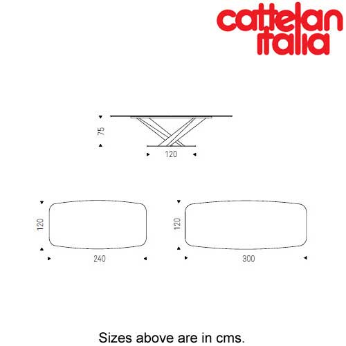 Stratos Fixed Table by Cattelan Italia by Cattelan Italia