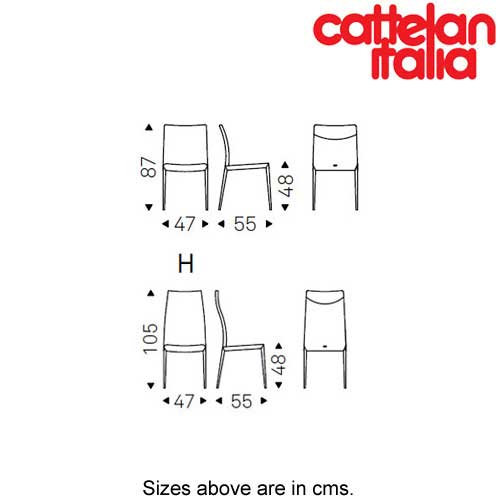 Norma Ml Dining Chair by Cattelan Italia by Cattelan Italia