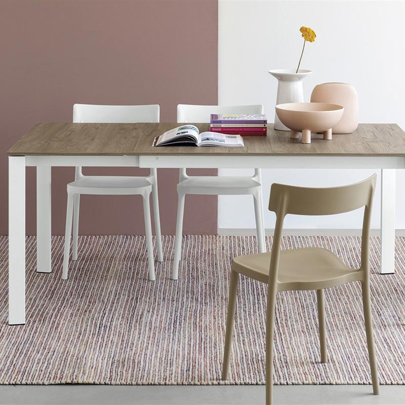 Eminence Metal Base Extending Table by Connubia Calligaris