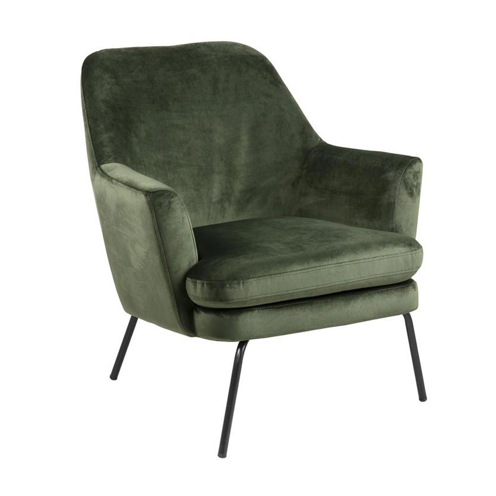 Chisa Forest Green Armchair By Dk Modern