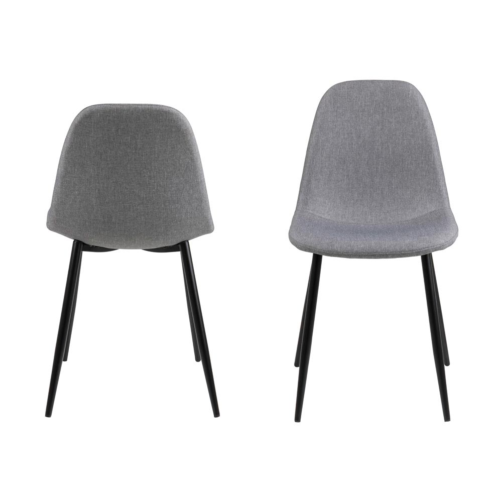 Wilma Light Grey Dining Chair By Dk Modern
