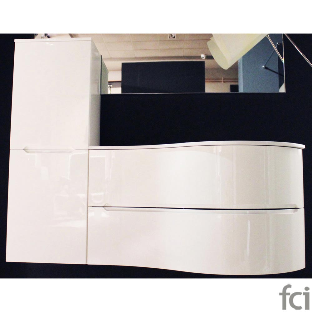 Glossy White Wash Basin Unit Composition by fci Bathrooms