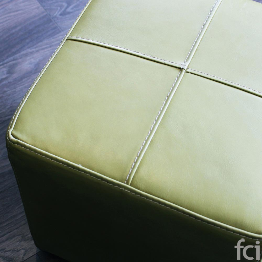 Green Seat With Wheels In Leather by fci