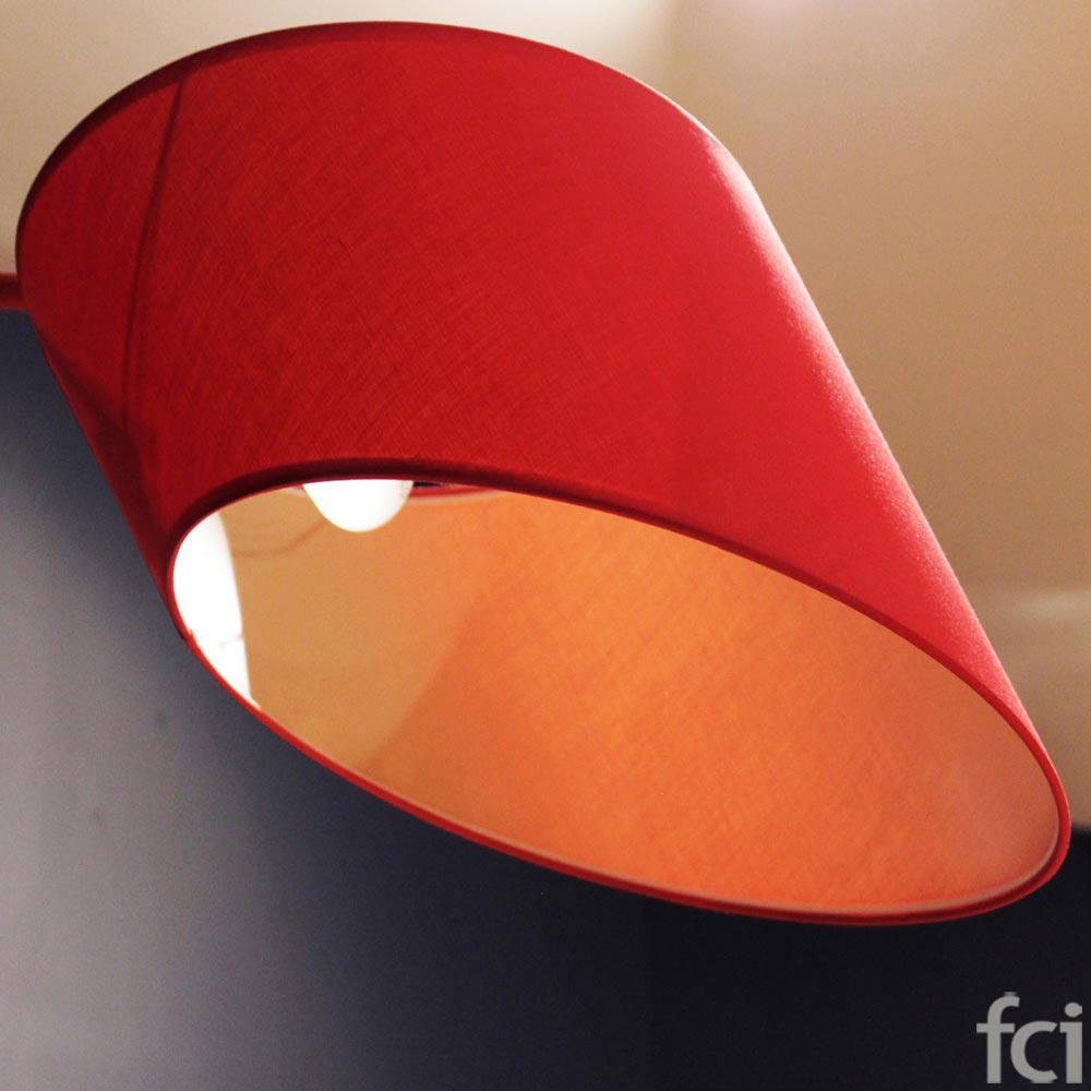 Red Floor Light by Flos