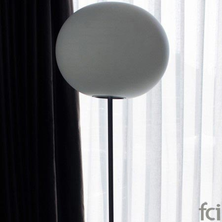 T2 Glo-Ball Floor Lamp In White by Flos