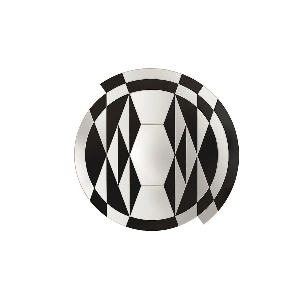 Black And White Beat Mirror by Gallotti & Radice