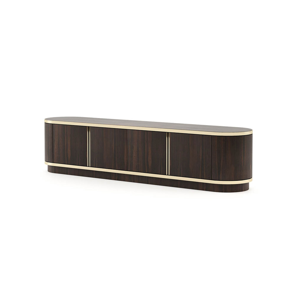 Brown TV Wall Unit by Laskasas