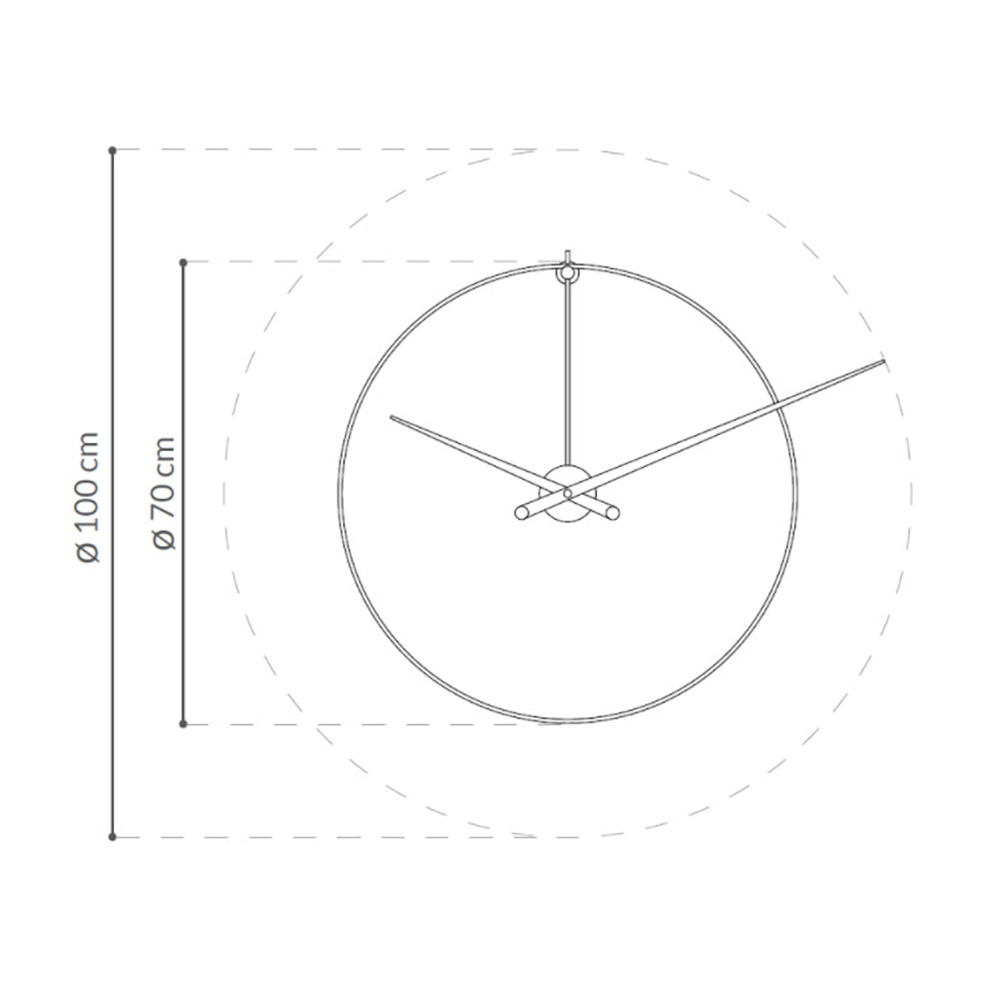Heel Clock by Nomon Clocks