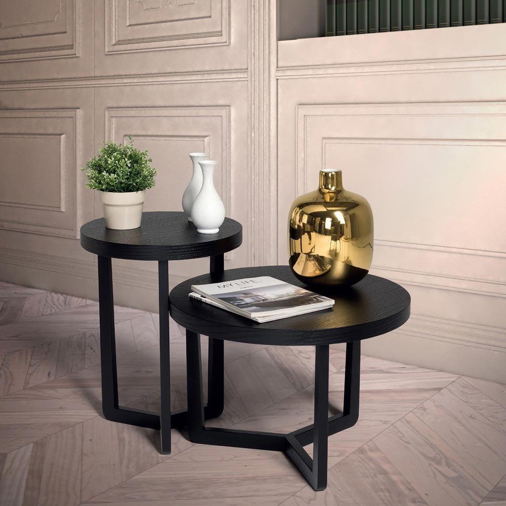 Yin Yang Side Table By Notte Dorata