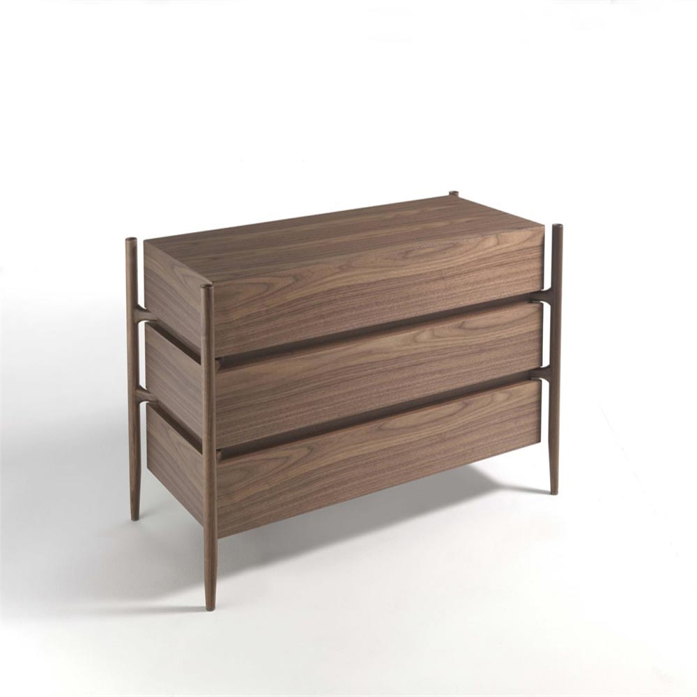 Regent 1 Pelle Chest Of Drawers  by Porada