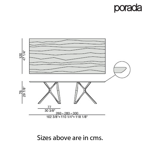 Circe Rectangle Dining Table by Porada