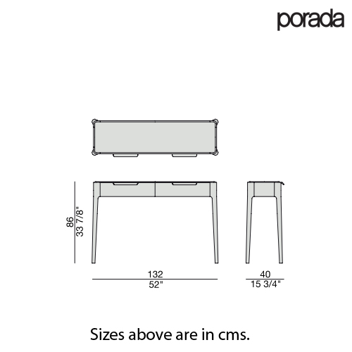 Ziggy 10 Glass Console Table by Porada