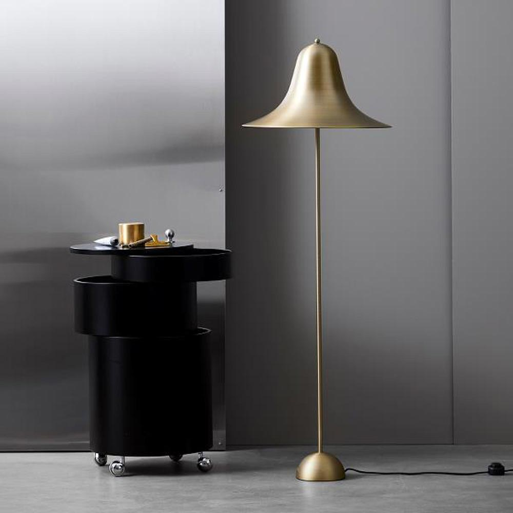 Pantop 45 Antique Brass Floor Lamp by Verpan