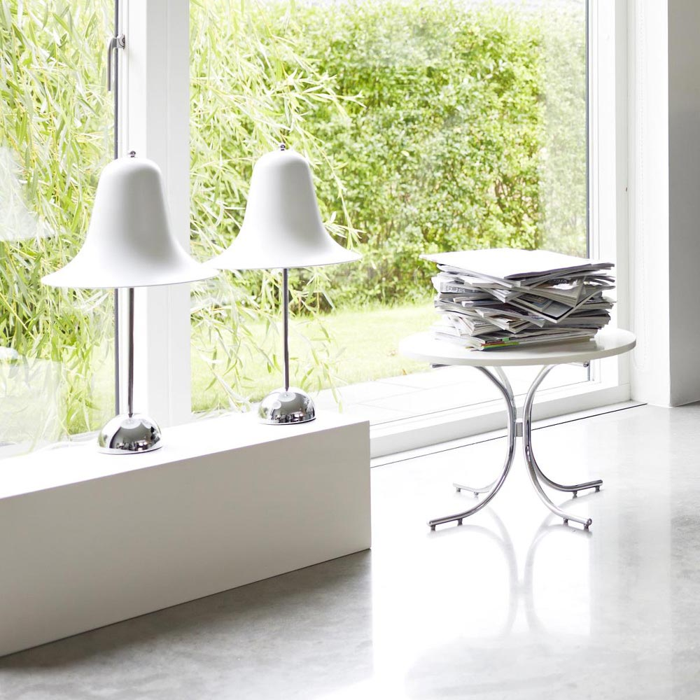Pantop White Table Lamp by Verpan