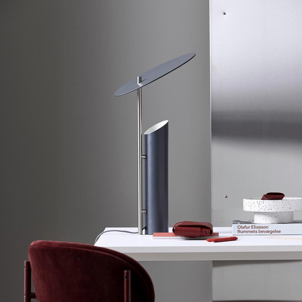Reflect Grey Table Lamp by Verpan