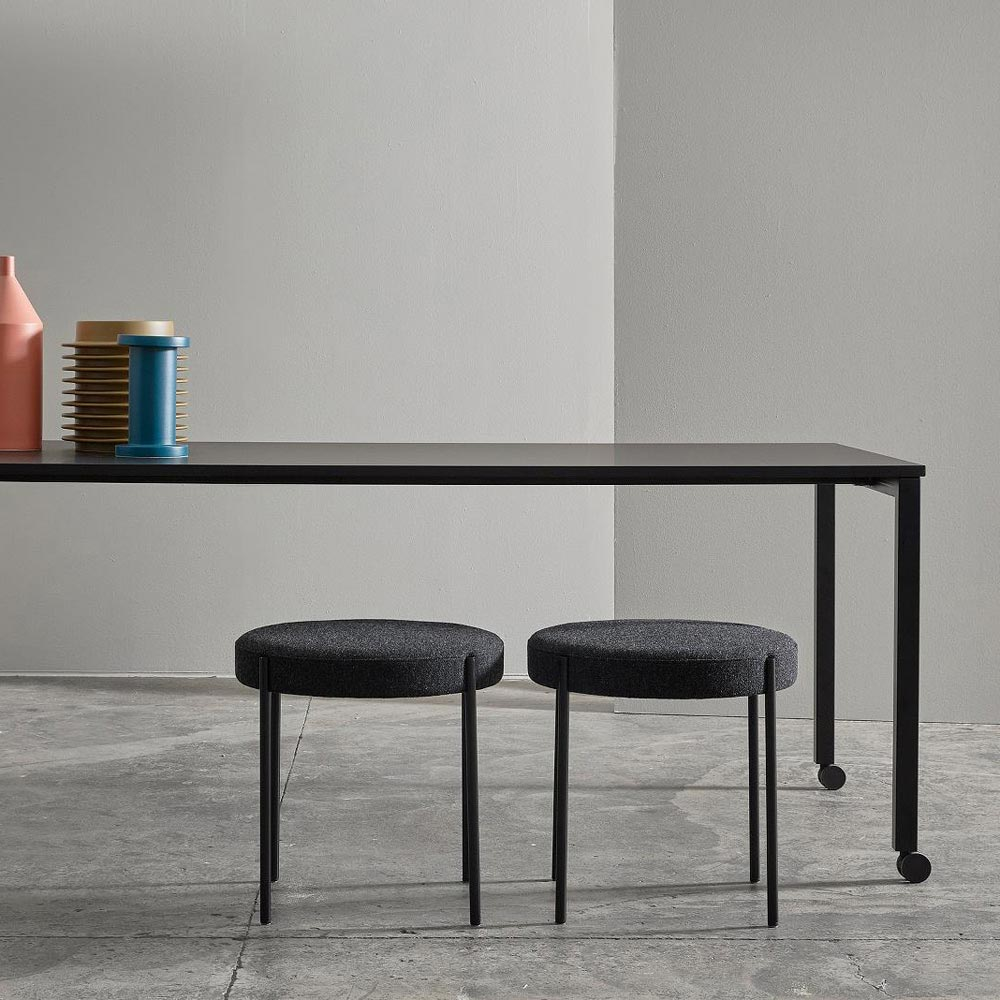 Series 430 Black Stool by Verpan