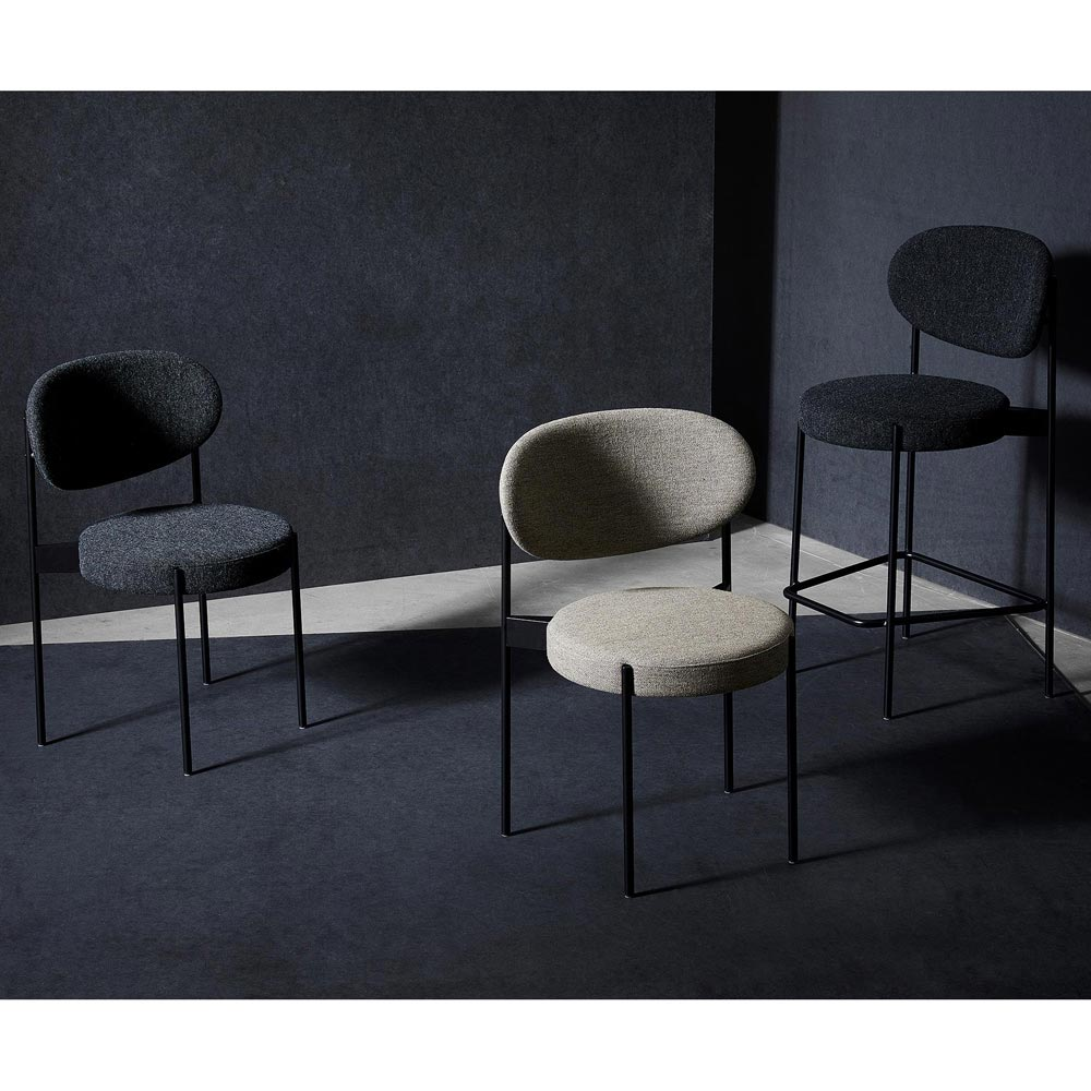Series 430 Black Dining Chair by Verpan