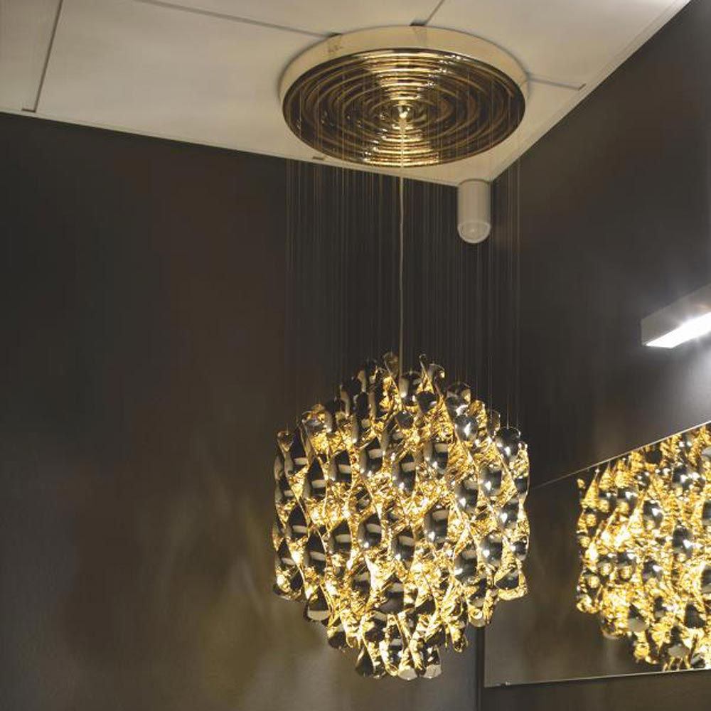 Spiral Sp1 Gold Pendant Lamp by Verpan