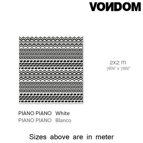 Piano Black Rug by Vondom