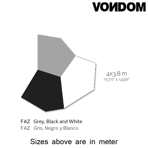 Faz Grey Black White Rug by Vondom