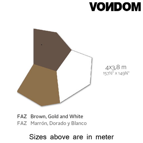 Faz Brown Gold White Rug by Vondom
