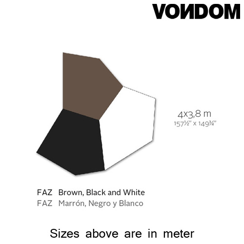 Faz Brown Black White Rug by Vondom