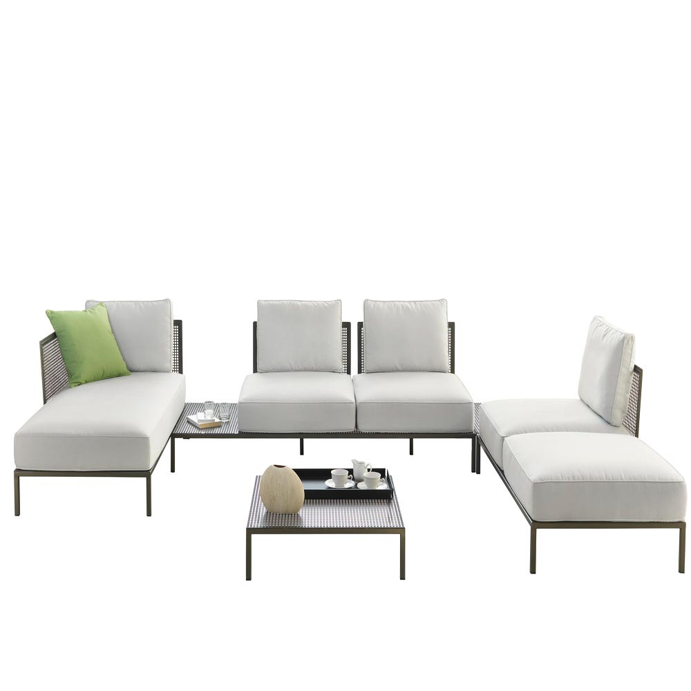 Leon Outdoor Sofa Accent Collection by Naustro Italia