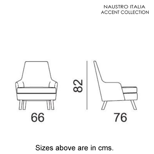 Violet Armchair Accent Collection by Naustro Italia